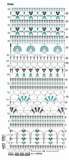 Mixed stitches, might be fun to play with  :-)   Site has numerous stitch diagrams.  . . . .   ღTrish W ~ http://www.pinterest.com/trishw/  . . . . #crochet #stitch