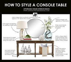 How to design a console table with a refined farmhouse touch . - How to design a console table with a refined farmhouse touch # console ta - Home Interior, Modern Interior Design, Design Interiors, Scandinavian Interior, Bathroom Interior, Living Room Designs, Living Room Decor, Console Styling, Console Table Decor