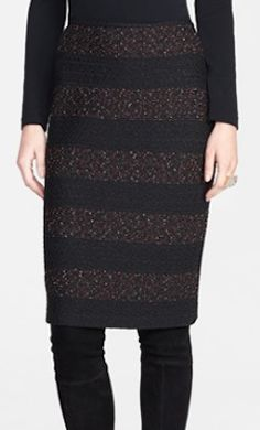 textured fleck knit pencil skirt  http://rstyle.me/n/q7zy6pdpe