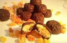 Bombones de chocolate rellenos caseros , receta casera. - Todareceta.es