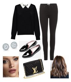 """Black formal"" by rola-cat on Polyvore featuring Essentiel, Acne Studios and Anastasia Beverly Hills"