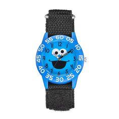 Sesame Street Cookie Monster Kids' Time Teacher Watch, Men's, Black