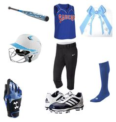 """""""Softball uniform !⚾"""" by abbyballistic ❤ liked on Polyvore featuring NIKE, adidas, Mizuno, EASTON and Under Armour"""