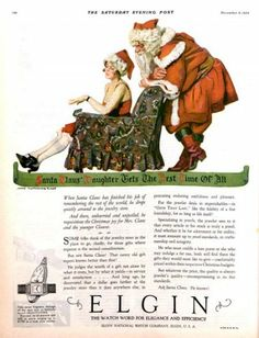 1925 Elgin watches ad. The Saturday Evening Post.