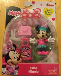 Fisher-Price Disney Minnie Mouse Pilot Minnie Action Figure Play Set NEW #FisherPrice