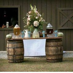 Try this 50 great ideas for rustic food display 46 Rustic Wedding Foods, Rustic Country Wedding Decorations, Outdoor Wedding Decorations, Wedding Ideas, Wedding Reception, Wedding Barns, Barn Weddings, Reception Ideas, Trendy Wedding
