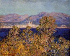 Claude Monet Antibes Seen From The Cape, Mistral Wind oil painting reproductions for sale