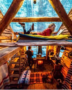 A-frame cabin design ideas Tiny House Cabin, Tiny House Design, Cabin Homes, Log Homes, Cabin Design, Tiny Homes, A Frame Cabin, A Frame House, Cabins And Cottages