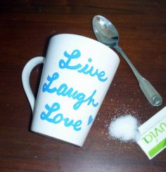 Live Laugh Love Coffee Mug by TheGirlWithGifts on Etsy, $12.00