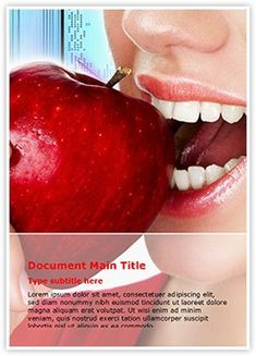 Teeth and Apple MS Word Template is one of the best MS Word Templates by EditableTemplates.com. #EditableTemplates #Oral #Eat #Beauty #Organic #Young #Calories #Fresh #Mouth #Food #Teeth #Apple #Woman #Dental #Girl #Eating #Nutrition #Freshness #Happy #Vitamins #Healthcare #Beautiful #Healthying #Energy