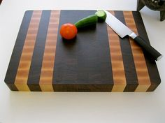 Premium End Grain Butcher Block Cutting Board, Black Walnut Butcher Block with Maple Accents by Omni Butcher Blocks Best Cutting Board, End Grain Cutting Board, Wood Cutting Boards, Butcher Block Cutting Board, Chopping Boards, Walnut Butcher Block, Butcher Blocks, Wood Projects, Woodworking Projects
