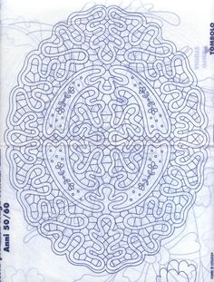 Google+ bobbin lace pattern