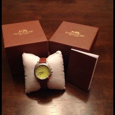 NEW COACH WATCH  Nice new leather band coach watch. Never worn. Coach Other