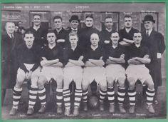 1937-38 Swedish postcard Liverpool FC  RARE