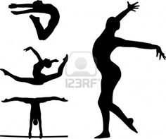 gymnastic silhouettes  Stock Photo - 8255644