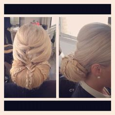 Braided Chignon updo for any formal occasion. Wedding hair, gala hair. By Michelle V in San Francisco. Up style