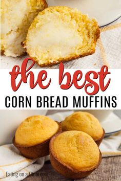 Cornbread Muffins are just so easy to make and much better than those store bought mixes. This cornbread muffin recipe is delicious and a family favorite. Simple Muffin Recipe, Muffin Tin Recipes, Baking Recipes, Cracker Barrel Corn Muffins, Sweet Cornbread Muffins, Cornmeal Mix Cornbread Recipe, Basic Butter Cookies Recipe, Cornmeal Recipes, Favorite Recipes