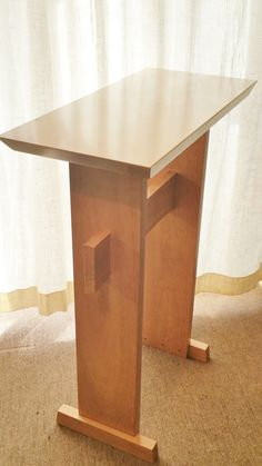 Custom Wood Podium/ Lectern or Standing Desk by MokuzaiFurniture