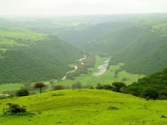 Dhofar Mountains, Salalah, Oman. Only green a few months of the year.