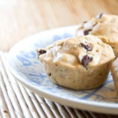 Peanut Butter Banana Chocolate Chip Muffins (yogurt,peanut butter)