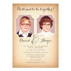 School Photos Funny Wedding Photo Invite