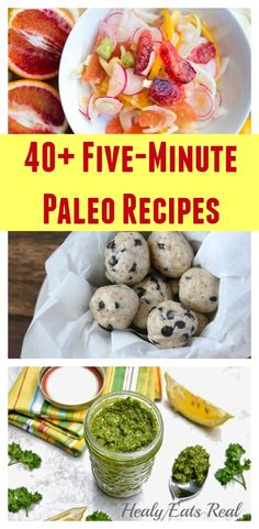 40+ Five-Minute Paleo Recipes @ Healy Eats Real #paleo #primal #glutenfree #easy #quick #5minute #recipes http://healyeatsreal.com/5-minute-paleo-recipes/
