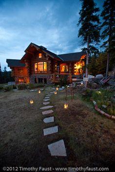 ranch at night.
