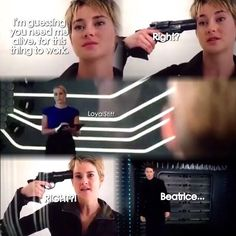 I almost screamed at this part... Even though I knew she really couldn't die in Insurgent. That would just ruin it all