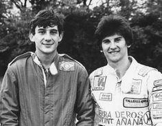 Ayrton Senna: Ayrton Senna Fotos / Mansilla [piloto argentino] e Ayrton Senna
