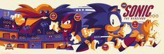 Tom Whalen Sonic the Hedgehog Poster Release By Skuzzles... #Arsetculture #Inside_the_Rock_Poster_Frame #Gig_Posters