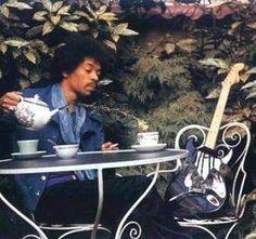 Who doesn't love a good tea party!? #tea #jimihendrix #teaparty #music #icon #inspiration #repost #musician #sixties #seventies #glam #rock #rocknroll #rockgod #70s #60s #dream #velvet #flares #hendrix