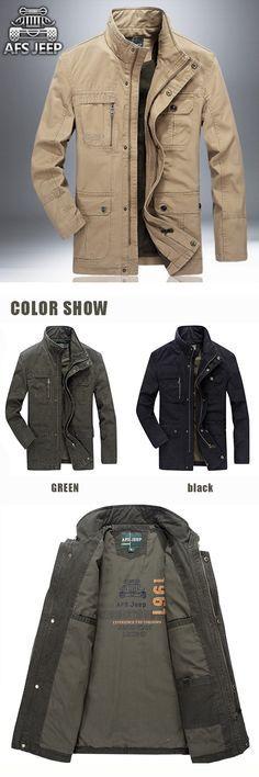 6ac94531463daa Military Cotton Coat Jacket for Men Herrenmäntel Und -jacken
