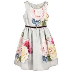 5e36af18afcdc4 Baby Bella Boutique – Bold Beautiful Brilliant Grey Floral Dress, Gray  Dress, Kids Bridesmaid