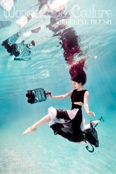 love underwater shots~  Feline Blushs Wonderland Couture Campaign Offers Underwater Imagery by Ilse Moore
