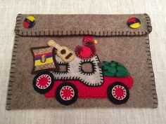 Felt Colombian Jeep Willys Document Holder,Document Pouch,Document Case,Handmade Passport Holder,Car Documents Keeper,Travel Bag,Wallet,Bag by CorazonarteByIvonne on Etsy