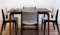 MC Mod tweed dining chairs