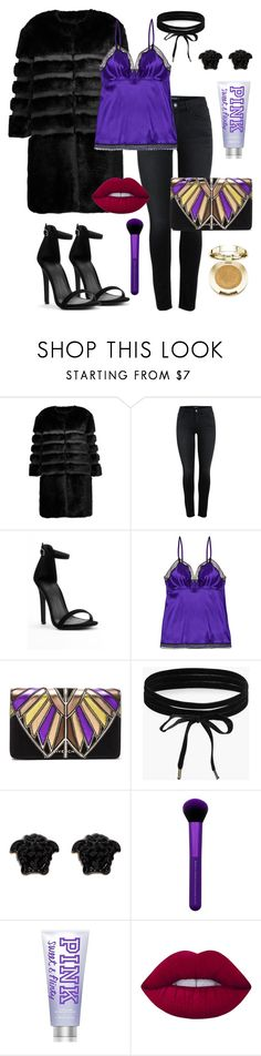 """Sans titre #31"" by anisco ❤ liked on Polyvore featuring AINEA, Eres, Givenchy, Boohoo, Versace, Victoria's Secret, Lime Crime and Milani"