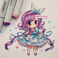 """29.7k Likes, 157 Comments - 流れ星 (@ibu_chuan) on Instagram: """"Y lo pinté, ni yo me lo creo, así que sorry, pero va a temblar :T Materiales: copic marker; ciao y…"""""""