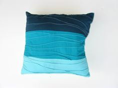 Untrendy Life: Pin Tuck Wave Beach Blue Pillow instructions