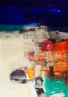 Christopher Wood  Spindrift  Acrylic, Mixed Media & Collage on panel