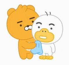 Kakao Ryan, Kakao Friends, Line Friends, Get Well Soon, Emoticon, Game Art, Hello Kitty, Tube, Kawaii