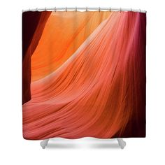 Orange Magic Shower Curtain featuring the photograph Orange Magic 9 by Elena Chukhlebova #showercurtain #orange #bathroomdecor #antelopecanyon #antelope #canyon #bathroomdecor #accent #bathroomaccent #nature #photo #elenachukhlebova #USA #America #homedecor