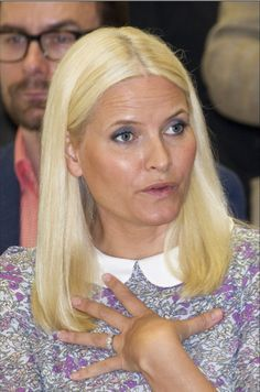 Princess Mette-Marit of Norway attended the opening ceremony of the Nordic Pavilion at the 56th International Art Exhibition (Biennale d'Arte) titled 'All the Worlds Futures' on May 6, 2015 in Venice, Italy