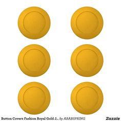 Button Covers Fashion Royal Gold Jewel Artistic 06