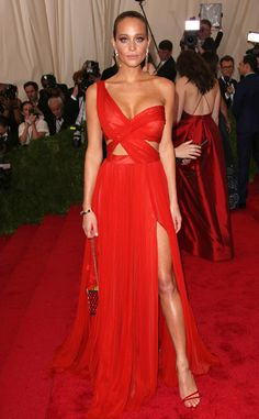 BEST:Hannah Davis in J. Mendel I like this dress , it compliments her skin tone and the way she wore it is flawless