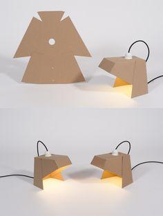 MYLAMP BY MADEBYWHO Cardboard Model, Cardboard Design, Cardboard Art, Cardboard Furniture, Lamp Design, Lighting Design, Diy Design, Diy Tripod, Architecture Concept Diagram