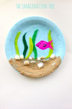 Make a gorgeous under the sea paper plate craft using natural materials…