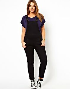 Image 4 ofASOS CURVE Dungaree In Twill
