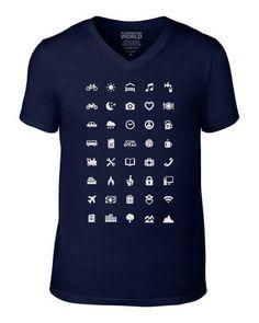 ICONSPEAK World V-Neck Men's T-Shirt