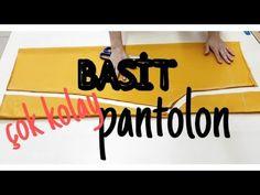 BASİT BOL PANTOLON kesimi ve dikimi #kolaypantolon #pratikpantolon /zelis'in dikiş odası - YouTube Diy Craft Projects, Singer, Youtube, Sewing, Pajama Pants, Dressmaking, Tutorials, Manualidades, Couture